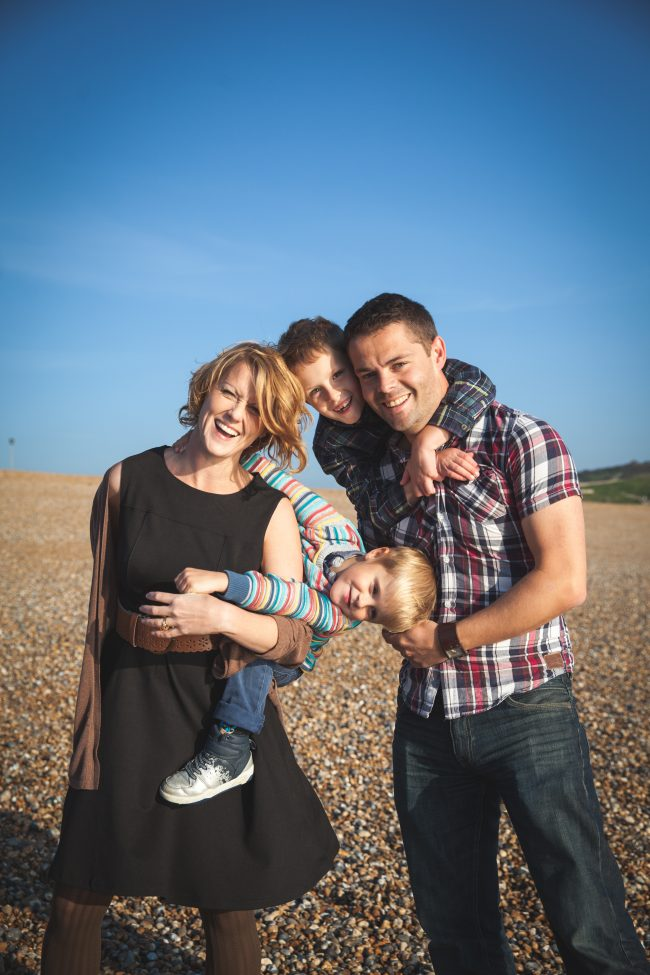 Natural family photo shoot Sussex